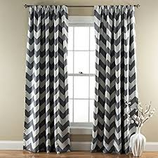 Gold And White Chevron Curtains by Amazon Com Mainstays Chevron Polyester Cotton Curtain Panels Set