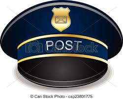 Postman peaked cap vector illustration isolated on white vector