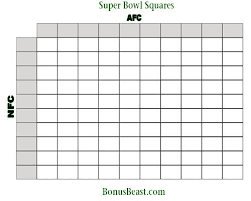 Super Bowl Pool Template The Free Website Templates