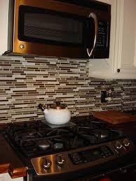 Cutting Glass Tile Backsplash Wet Saw by Glass Tile Backsplash All The Way Up Under The Microwave Kitchen