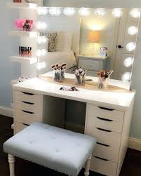 Makeup Desk With Lights Uk by Astonishing Diy Small Makeup Vanity Ideas Best Idea Home Design