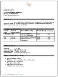 Tcs Resume Format For Freshers Computer Engineers by Resume Template Of A Computer Science Engineer Fresher With Great