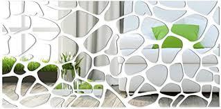 dekorativer spiegel rocks 140 x 70cm modernes design dekoration 3mm acryl spiegel aus der eu wohnzimmer schlafzimmer flur unzerbrechlich