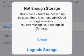 What to do when there is not enough iCloud storage to backup your