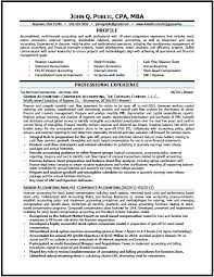 Sample Cpa Resume Corporate Accountant For Accounting Students With No Experience