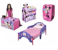 New Minnie Mouse Furniture Set Toddler Bed Storage Trunk Toy Bin