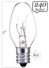 240 bulbs clear light bulb c7 candelabra base 5 watt