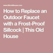 Freeze Proof Faucet Low Flow by How To Fix A Leaky Frost Free Sillcock Outdoor Faucet Youtube