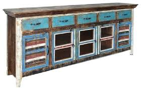 Distressed Wood Tv Cabinet Rustic Curio Beach Style Entertainment Centers And Furniture
