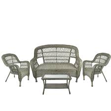 4-Piece Driftwood Green Steel Resin Outdoor Patio Furniture Set - Loveseat  2 Chairs And Table Adams Manufacturing Quikfold White Resin Plastic Outdoor Lawn Chair Semco Plastics Patio Rocking Semw 5 Pc Wicker Set 4 Side Chairs And Square Ding Table Gray For Covers Sets Tempered Round 4piece Honey Brown Steel Fniture Loveseat 2 Sku Northlight Cw3915 Extraordinary Clearance Black Bar Rattan Small Bistro Pa Astonishing And Metal Suncast Elements Lounge With Storage In