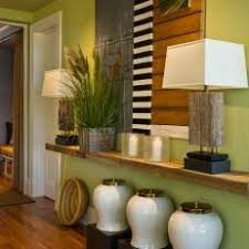 Dining Room Vignette With Reclaimed Wood Shelf