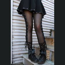 mesh lace up leggings xs s m l xl 2xl plus size punk goth