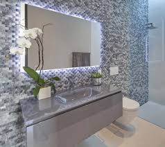 Blue Mosaic Bathroom Mirror by Monochrome Mosaic Tiles Bathroom Design Ideas Mirror Frame