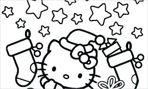 Christmas Kitten Coloring Pages Hello Kitty Page