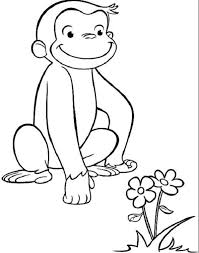Curious George Coloring Pages Online Animal 935