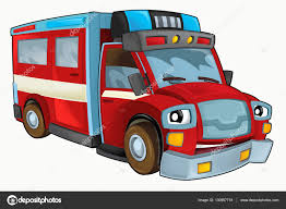 100 Fire Truck Cartoon Happy And Funny Fire Truck Stock Photo Illustrator_hft