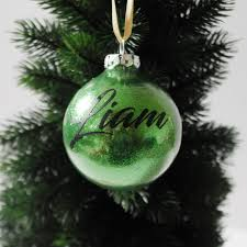 Christmas Tree Name Baubles by Personalised Baubles Jo U0026 Co