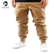 Mens Urban Clothing M 2XL Unisex Khakis Dress Jogger Pants Fashion High Quality Skinny Black