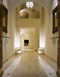 Foyer Flooring Ideas Entry Mediterranean With Tile Floor Recessed Lighting