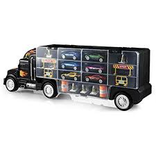100 Truck Carrier Kids Toy Transport Cars Christmas Gift Play Set 6 Cars