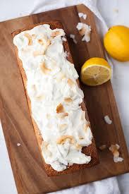 zitronen kokos kuchen mit zitronigem creme fraiche topping