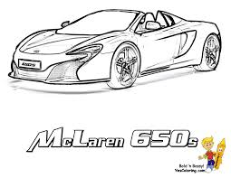 Car Coloring Of McLaren 650z At YesColoring