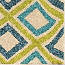 Rugs Area Indoor Outdoor 8x10 Carpet Green Blue Together ...