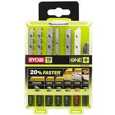 box of 10 blades for jigsaw ryobi oneplus wood plastic metal