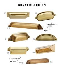 Champagne Bronze Cabinet Hardware by I Love These Brass Pin Pulls Adds Glam To Any Drawer A