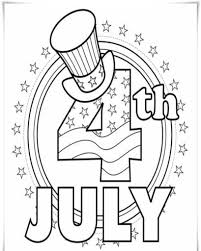 4th July Ligh Of Firecrack Coloring Page With Pages For Best 4Th Toddlers
