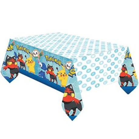 American Greetings Pokemon Plastic Table Cover - 54in x 96in