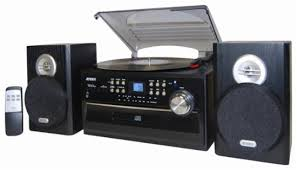 JENSEN 4W CD Stereo System with Cassette Turntable and AM FM