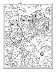 Creative Haven Owls Colouring Book By Marjorie Sarnat Pinwheel Owl Coloring PagesColoring
