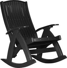 LuxCraft Recycled Plastic Comfort Porch Rocking Chair