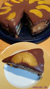 pfirsich schokoladen biskuit torte nekcab