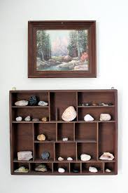 Display A Rock Collection In Curio Shelf