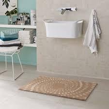 badteppich schöner wohnen mauritius kreise creme 001 60x60 cm