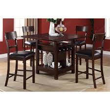 High Dining Table And Chairs With Room Bench Plus Counter Together End