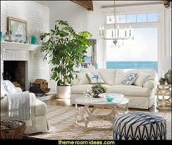 Nautical Livingroom Decorating Ideas Coastal Seaside With Beach Themed Decor Living Room Sets