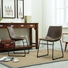 Shop for Lotusville Vintage Antique Brown PU Leather Dining Chairs