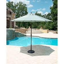 Sunbrella Patio Umbrellas Amazon by Amazon Com Sunbrella Spa Blue Stripe Huge 10 Foot Aluminum Auto