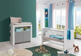 babyzimmer pia weiß grau komplett set 2 teilig inkl wickelkommode und babybett
