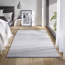 teppich wölkchen waschbarer teppich mit anti rutsch i flauschiger kurzflor für badezimmer kinderzimmer oder flur läufer i einfarbig