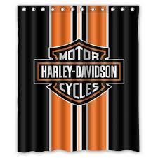 Fashionable Bathroom Collection Custom Harley Davidson Shower Curtain Bath Decor 60 X 72