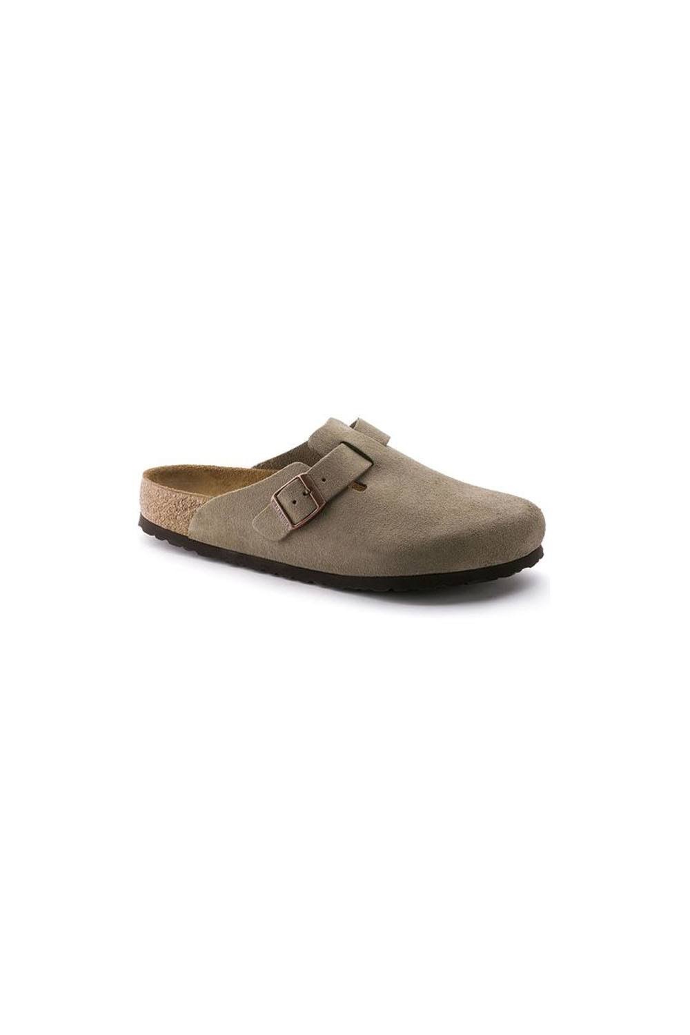 Birkenstock Women's Boston Soft Footbed Taupe Suede