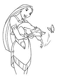 Pocahontas Has A Friend Named Meeko Which Is One Of The Free Printable Coloring Pages You Disney SheetsDisney Princess