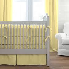 Solid Banana Crib Bedding Solid Yellow Baby Bedding