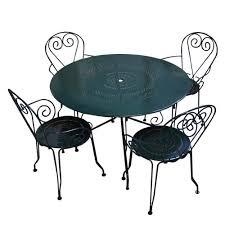 table de jardin metal mobilier de jardin resine tressee pas cher