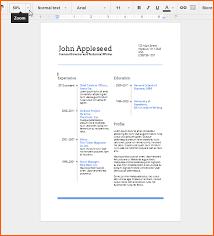 6 Resume Templates Google Docs Budget Template Letter