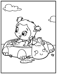 1024x1320 Little Girl In Children39s Sandbox Coloring Page